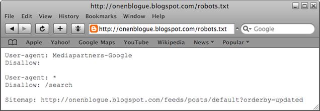 blogspot robot txt